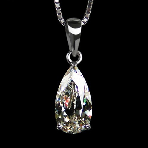 2.56 CT Fine SONA synthetic Diamond Wedding Pendant&necklace,Water's Love,925 Sterling Silver semi mount pendant for women(China (Mainland))