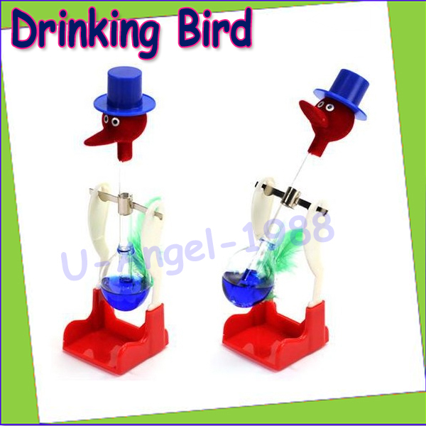 Гаджет  10pcs/lot Drinking Bird,USA ASTM certificate happy bird, perpetual motion bird ,children education toys+Free Shipping None Игрушки и Хобби