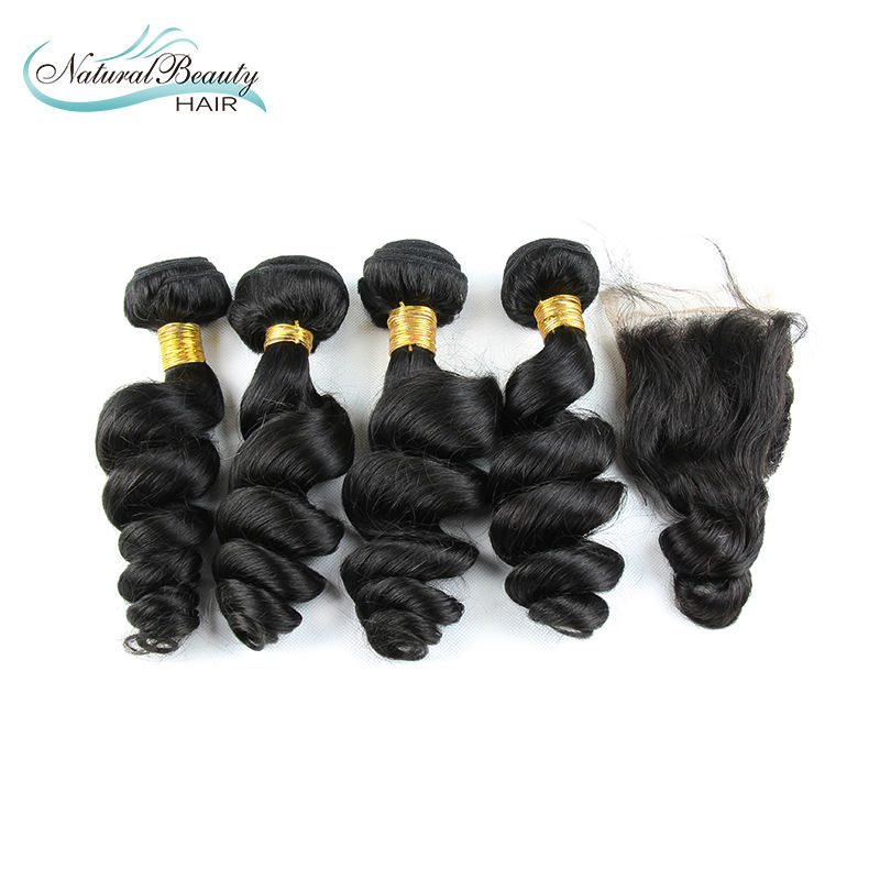 Malaysian Virgin Hair Weaves Malaysian  Virgin Hair Extension6A Grade Human Hair Weave Malaysian   Hair Extension 4+1pcs lot<br><br>Aliexpress