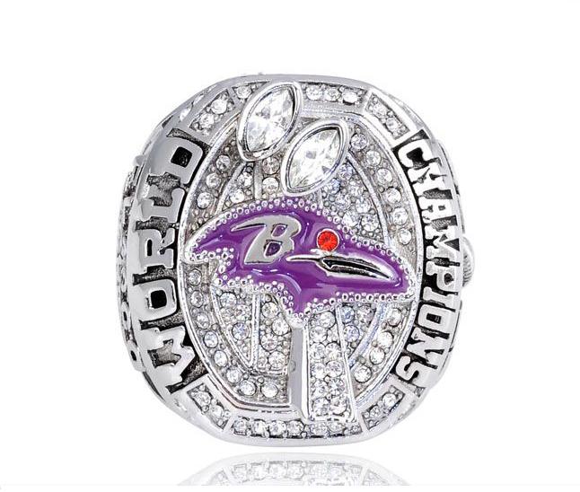 NFL 2012 National Football League Baltimore Ravens Joe Flacco Replica Super Bowl Championship Ring US Size 11(China (Mainland))