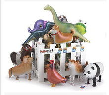 50 PCS/lot Hybrid models of animal balloons, aluminum foil balloon animals, walking pet balloons children's toys Free Shipping(China (Mainland))