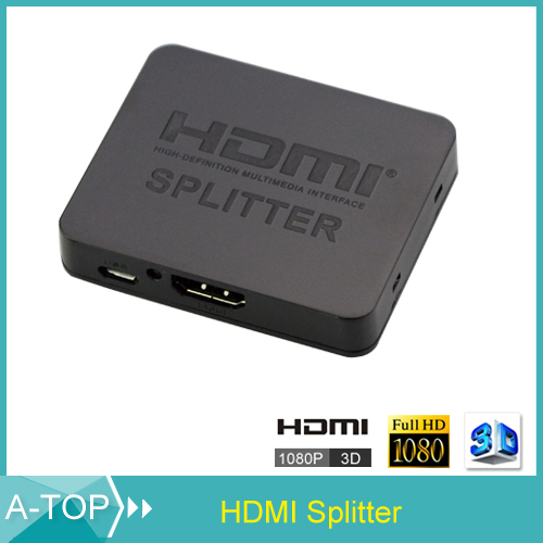 Mini 1x2 3D HDMI Splitter Switcher 1080P HDMI Distributor Switch Converter Adapter for Xbox 360 PS3 DVD HD 1080P Video(China (Mainland))