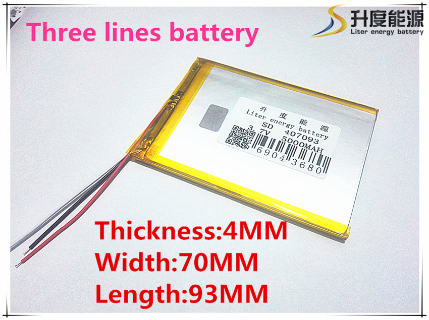 "4*70*93mm 3.7V 5000mah Tablet update Battery For 7"" Tablet Q8, Q88 A13 U25GT,Freeander PD10 3G,PD20 3G TV MTK6575,MTK6577(China (Mainland))"