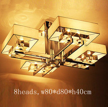 New Modern Stainless Steel Plated Ceiling Lights Crystal Drop Lighting Lustres LED Fixtures For Living room Bedroom  Luminaire(China (Mainland))