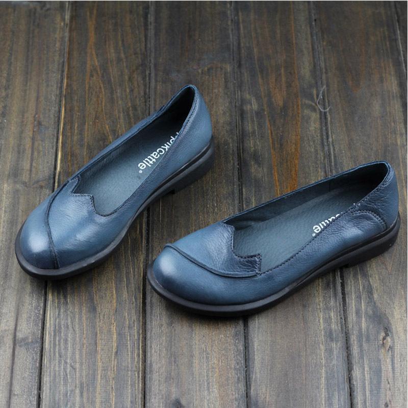 Здесь можно купить   women summer style genuine  leather flat shoes female slip on loafers with non slip rubber outsole (ls706)  Обувь