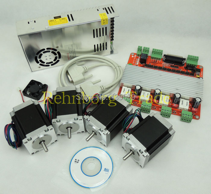 Buy cnc 4 axis stepper motor controller for Stepper motor kits cnc