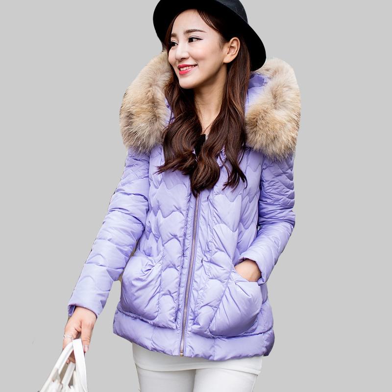 2015 new Korean version of Slim Nagymaros collar female models in long down jacket W0158