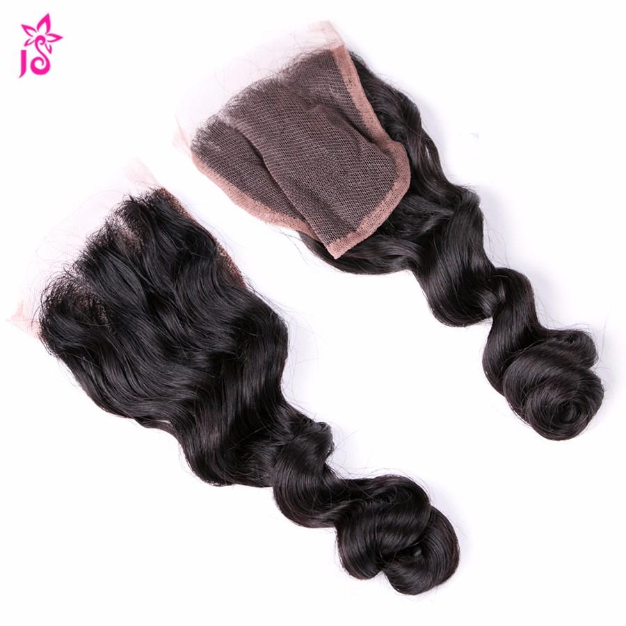 Peruvian Loose Wave With Closure 4 Bundles With Closure Virgo Hair Company Bundle With Closure Cheap 8a Puruvian Hair Bundles JS