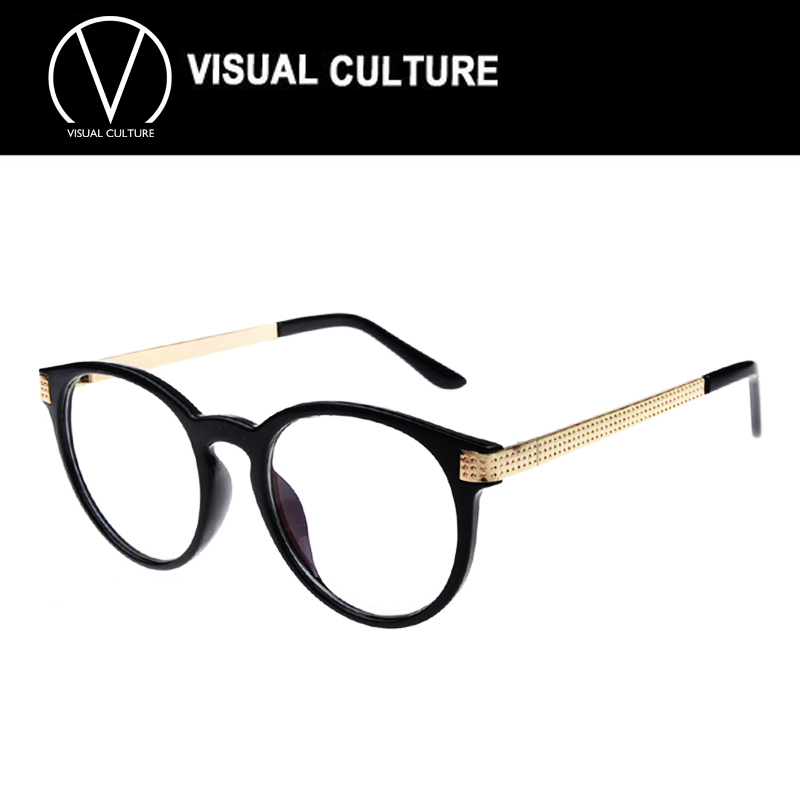 Vintage Unisex Retro Star Round Metal Frame Clear Lens ...