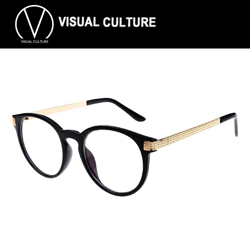 Large Designer Eyeglass Frames : Vintage Unisex Retro Star Round Metal Frame Clear Lens ...