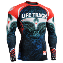 2016 3D Printed Sport Shirts Tops Compression Tight Skin Shirts Workout Wear Functional Cross Fit T-shirts Long Sleeves Jerseys