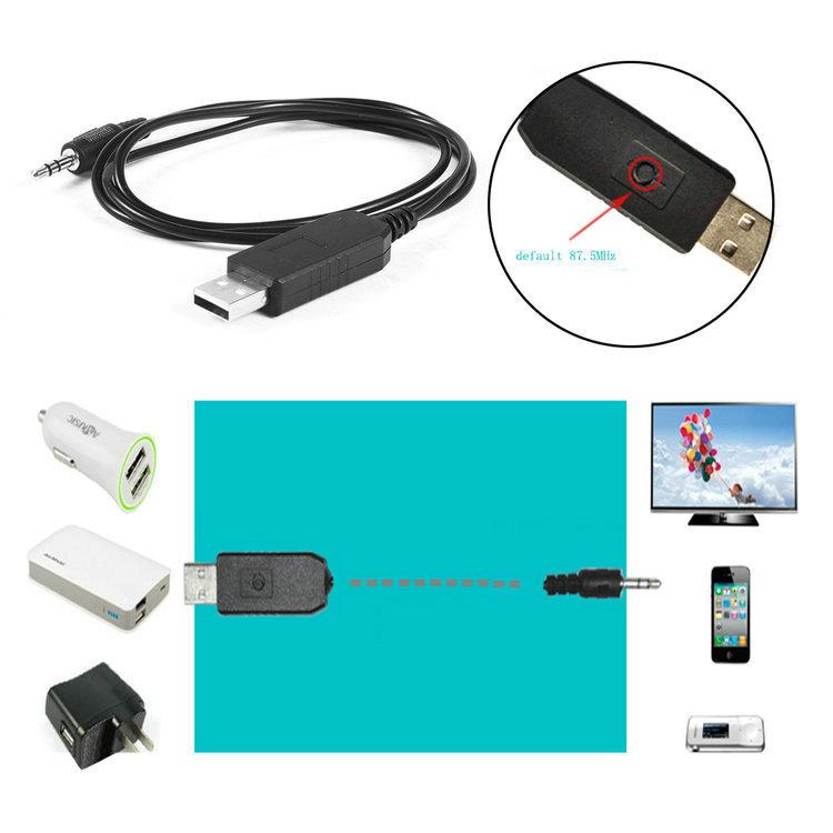 Universal Car Stereo FM Audio FM Transmitter 5V USB Charging Hot New 3.5mm Wireless Transmitter(China (Mainland))