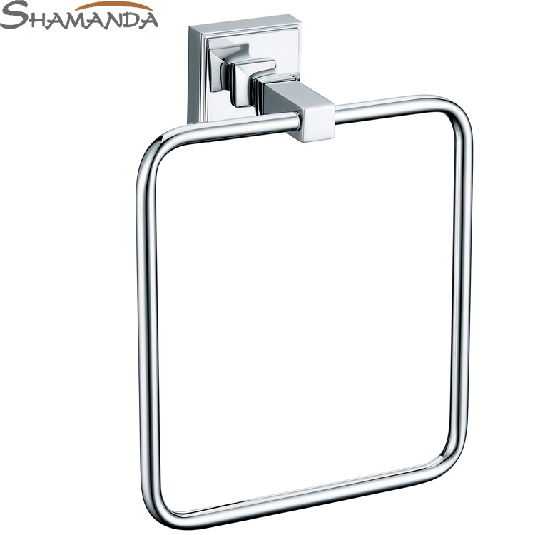 2016 Special Offer Free Shipping Solid Chrome Towel Ring Towel Holder Towel Bar Bathroom