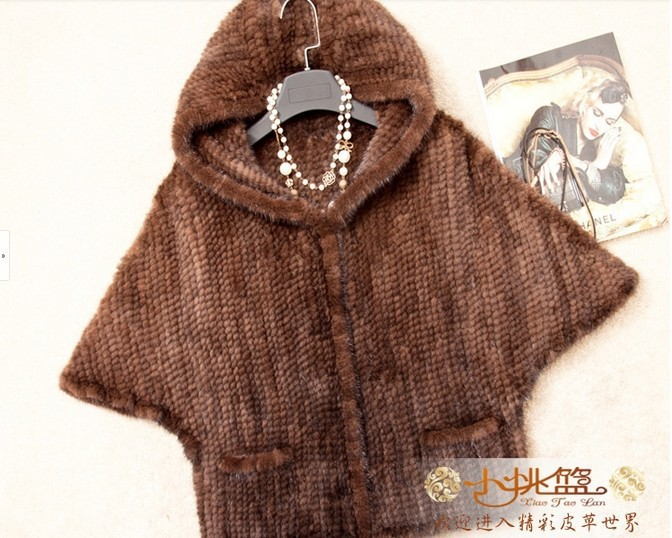 2014 Autumn Winter Women's Genuine Natural Knitted Mink Fur Jacket Batwing Sleeve Lady Hoody Short Coats VK1377 - BESTOPPO Foreign Trade Co., Ltd. store