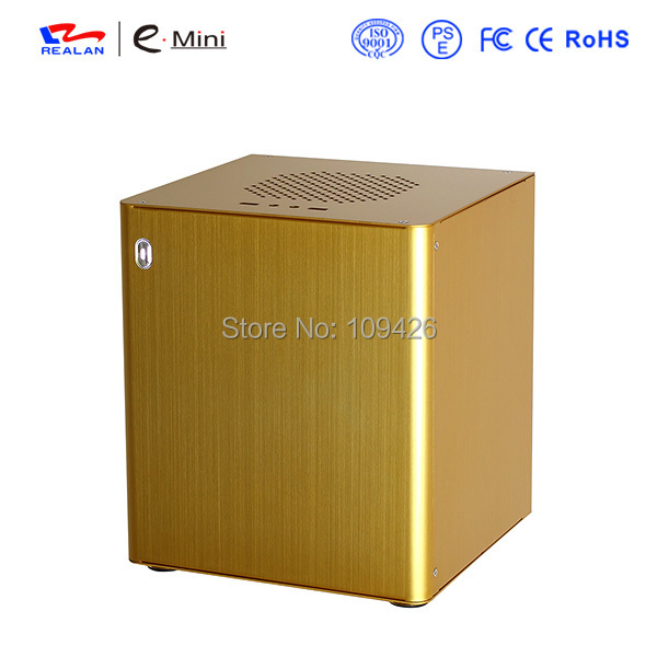 Realan D3 Aluminum Computer Cases Without CPU And Power Supply, Mini ITX Motherboard, Support 2.5 HDD 3.5 HDD(China (Mainland))
