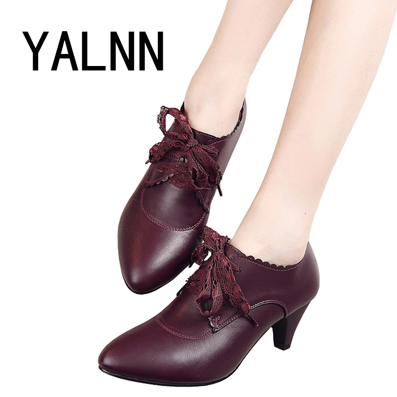 Factory Wholesale Short Boots Classical women Lace Up Ankle Martin Boots Ladies Brand Womens Black High Heel Shoes pumps(China (Mainland))