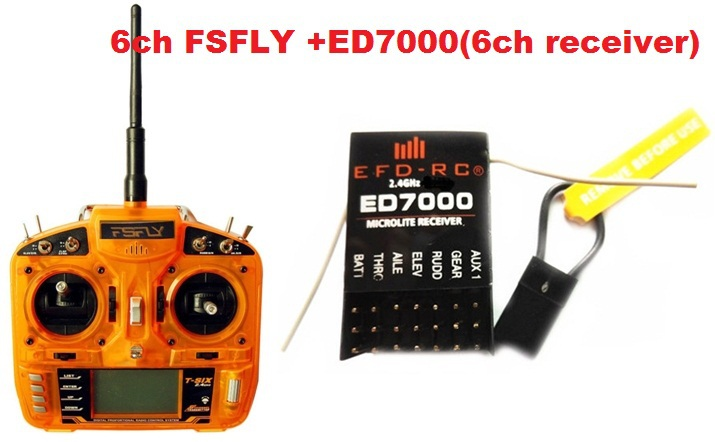 Free shipping-FSFLY 2.4G 6CH RC Transmitter with Receiver Surpass DX6i JR FUTABA for Helicopters,Airplanes,Quadcopters