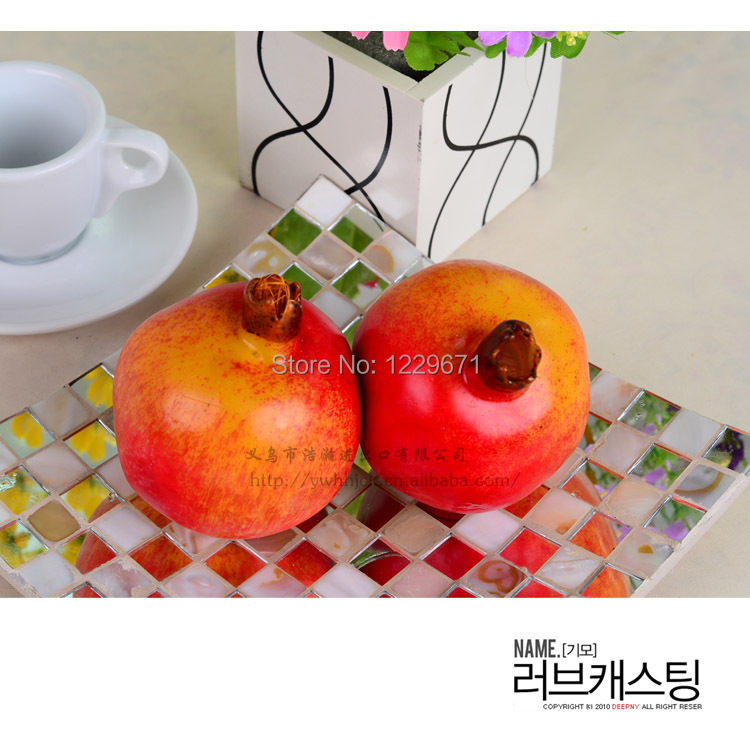 Free shipping artificial fruits for decoration fake foam for Artificial pomegranate decoration