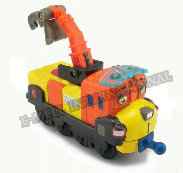 Chuggington Diecast train -- Crane Trailer Brand New Alloy Metal Loose Train EM-CC-0021(China (Mainland))