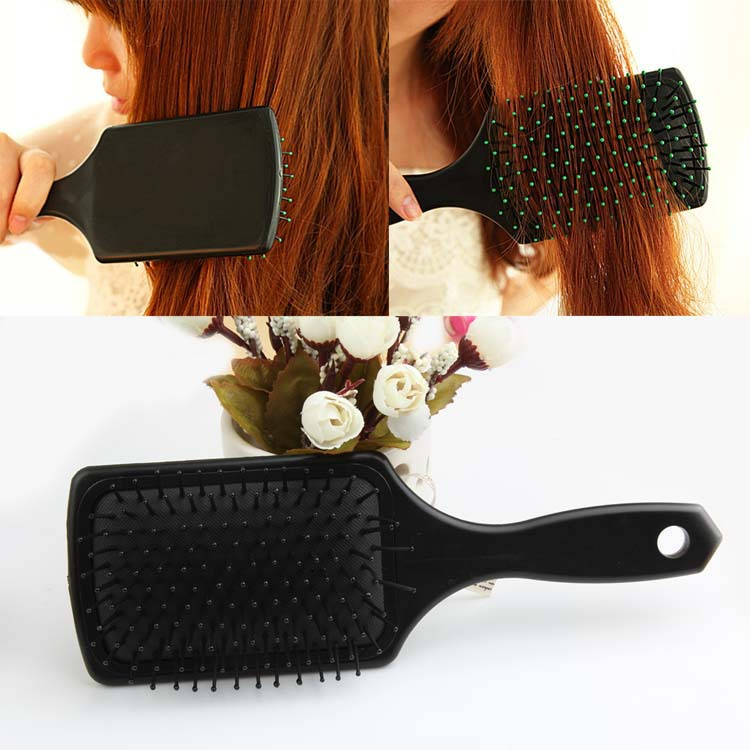 New 2015 Hot Sale Fashion Hair Care Styling Tools Black Flat Comb Scalp Massage Hairbrush Reduce Hair Loss HB-0016\br(China (Mainland))
