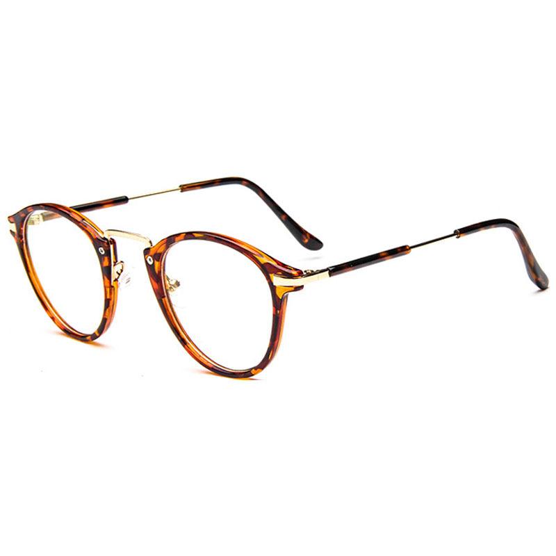 Aliexpress.com Comprar 2016 estudiante de diseño Vintage Gafas mujeres Gafas redondas Gafas de marco marco óptico de los vidrios Oculos Femininos Gafas