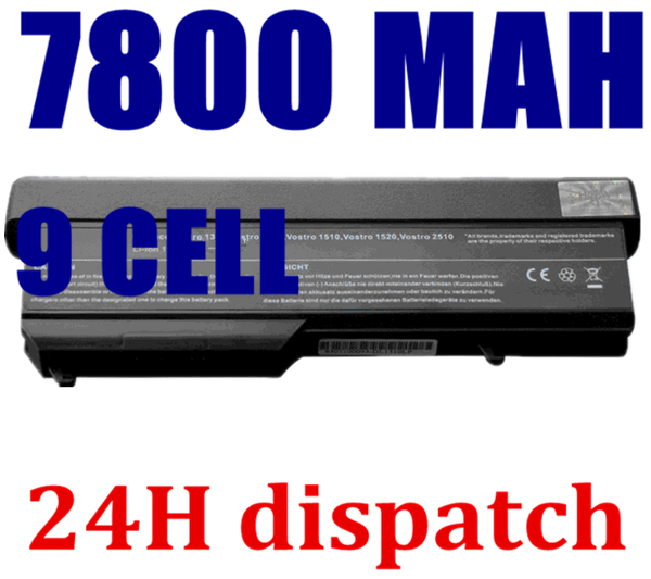 7800mAh Notebook For Dell Vostro 1310 Battery 1320 1520 1510 T114C T112C 0N241H 312-0724 451-10655 K738H N950C U661H(China (Mainland))