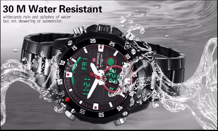 Мужчины спортивные часы двойной дисплей часы для мужчин NAVIFORCE бренд мужской цифровые аналоговые Электронные кварцевые часы 30 М водонепроницаемые часы