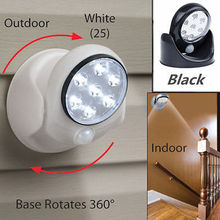 7 Led Swivel Motion Sensor Detector Light Indoor Outdoor Garden Security Lamp BB(China (Mainland))