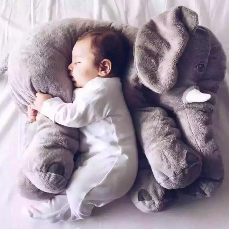 2016 Hot Sale Free Shipping 60cm Colorful Giant Elephant Stuffed Animal Toy Animal Shape Pillow Baby Toys(China (Mainland))