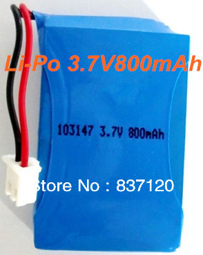 High energy density 103147 3.7V800mAh Li-polymer lithium li-ion rechargeable battery pack for walkie-talkie e toy free shipping(China (Mainland))