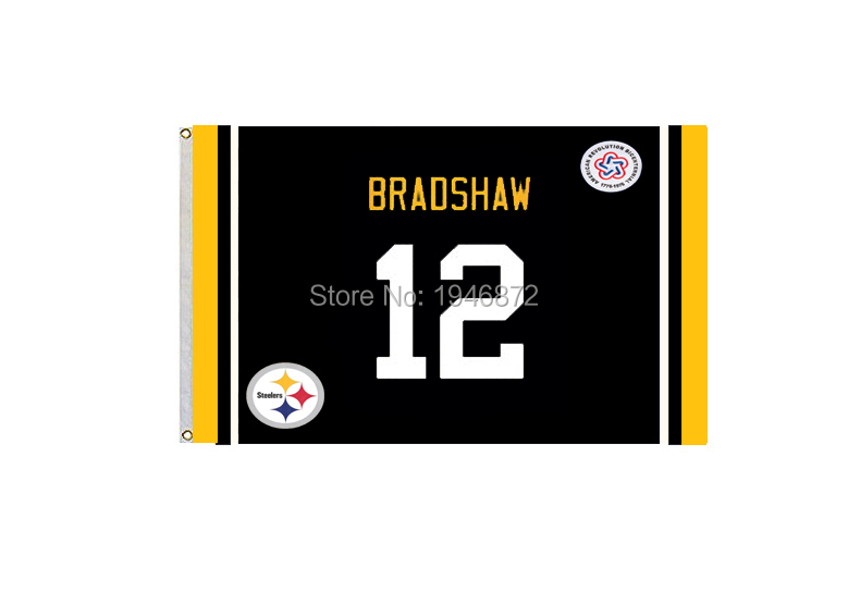 Pittsburgh Steelers Terry Bradshaw 12 Fan Flag 3X5FT(China (Mainland))
