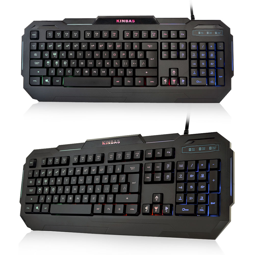 Brand VP-X9 105 Keys USB Wired Fashion 7 Color LED Backlight Gaming Keyboard Professional Computer Gamer Dota 2 LOL - Atolla Global Flagship Store store