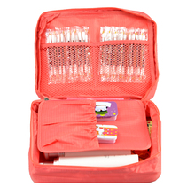 Free Shipping Red Outdoor Travel First Aid Kit Bag Home Small Medical Box Emergency Survival kit Treatment Outdoor Camping(China (Mainland))