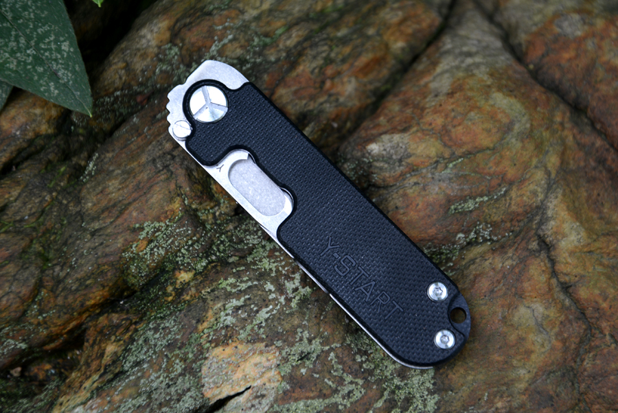 Y-START pocket knife 440C Satin blade flipper folding knife TC4 handle outdoor camping knife  free shipping