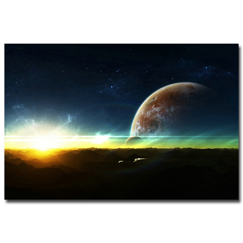 Galaxy space stars nebula silk poster 12x18 24x36 for Living room 12x18