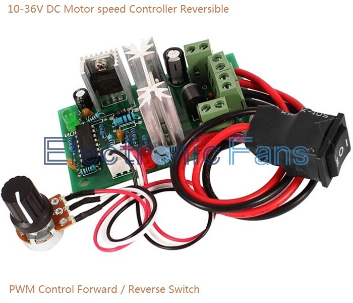 10-36V DC Motor speed Controller Reversible PWM Control Forward / Reverse Switch<br><br>Aliexpress