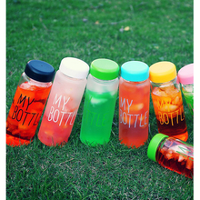 wholesale 6 style Frosted Water bottles fashion creative juice tea coffee thermos readily Lightweight portable space cup DL1892
