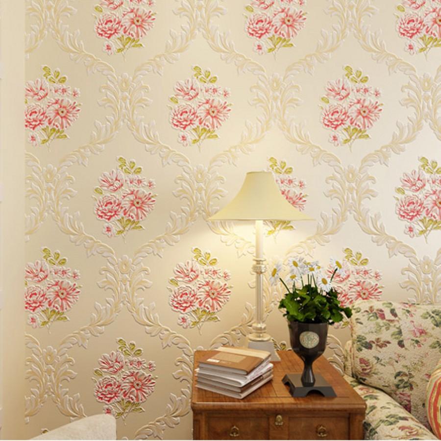 Italian flower metallic wallpaper embossed PVC wallpaper background ...