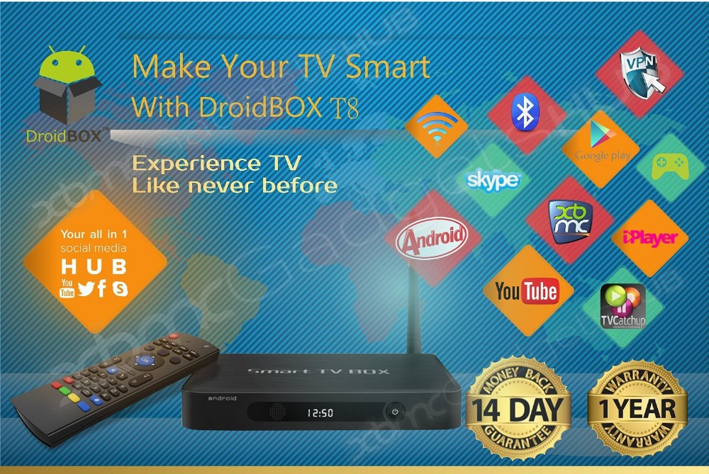 product DroidBOX T8 Android TV BOX CUSTOM BUILT XBMC TV AIRPLAY  FULLY LOADED QUAD CORE ULTRA-HD FULLY JAILBROKEN XBMC