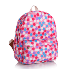 Classic Polka Dot Shoulder Bag Teenagers  Large Waterproof Girls Backpack  Fashion Leisure Quality Schoolbag (China (Mainland))
