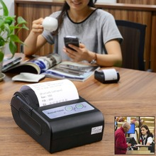 Thermal Printer EU Plug  58mm Paper Width Portable Bluetooth Wireless Receipt Thermal Printer for Android IOS