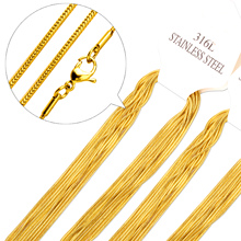 Buy Wholesale 10PCS Chains Necklace Gold Filled Chain Snake Chain Pendant Lobster Clasps Woman Jewelry Gift for $7.50 in AliExpress store