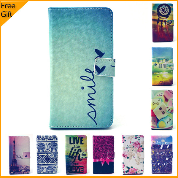 Luxury Cartoon Wallet Flip Leather Cell Phone Case Cover For Alcatel One Touch Pop C9 7047d Case Silicone Shell With Card Holder(China (Mainland))