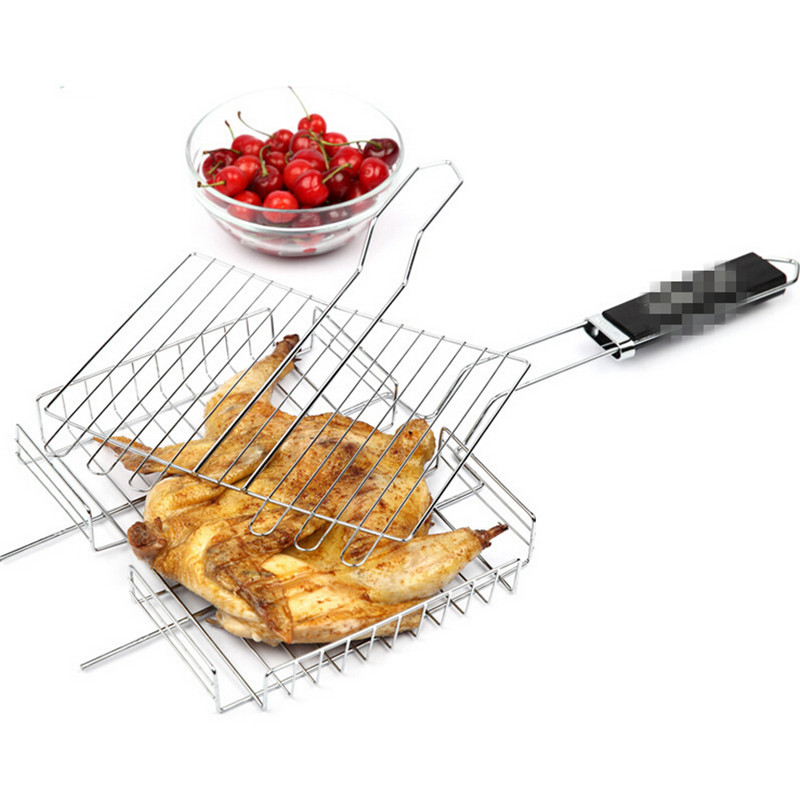 High Quality BBQ Barbecue Cooking Tools Grilled Meshes Meat Chicken Fish Vegetable Grilles Tool Stainless Steel Heat Resistance(China (Mainland))