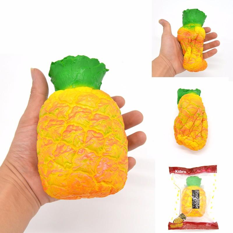 Kiibru Pineapple Squishy Slow Rising Fruit Scented Squishy 9*14cm Girl Kids Fun Novelty Gift Toys For Children Girls(China (Mainland))