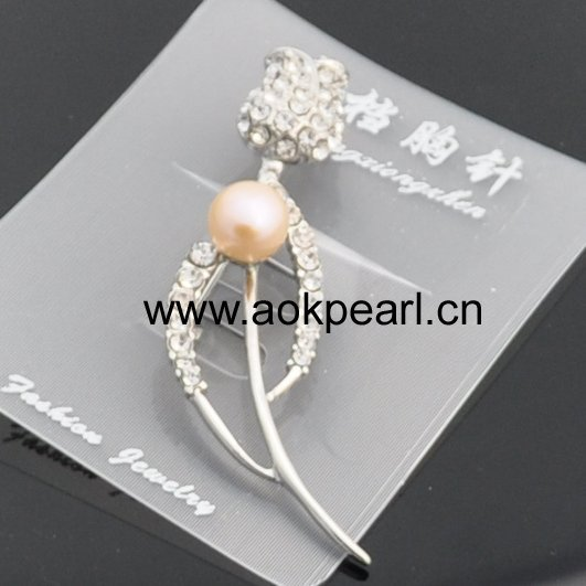 ABR044 Fashion rose brooch for Valentine day gift