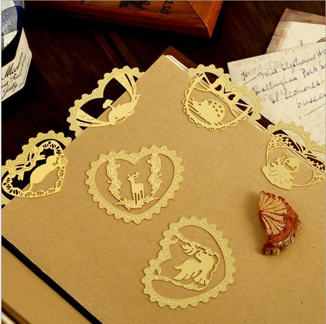 product 6 design animals lace love metal bookmark // book holder/bookmarks for books/articulos de papeleria/marcador de livro 30 pcs/lot