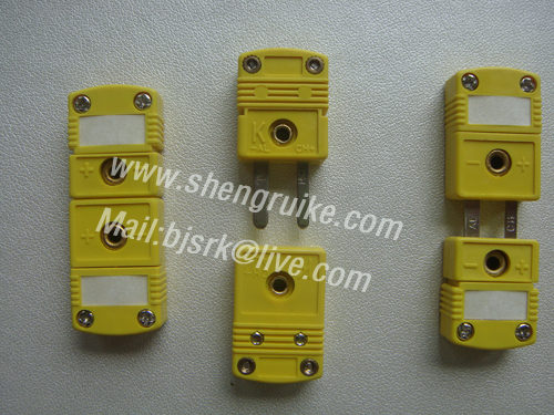 KC Type miniature thermocouple connector, Male &amp; Femal,  Mini size, Yellow color<br><br>Aliexpress