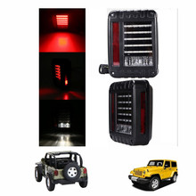 Buy Smoke Lens Jeeps Wrangler 07-15 JK LED Brake Tail Lights Bulb Assembly Conversion Rear Turn Singal Reverse Lights for $78.32 in AliExpress store
