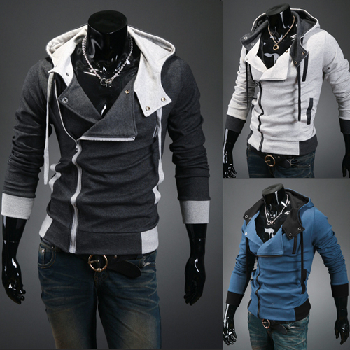 2015 Autumn Sports coat Classic jacket Men's Jacket hoodie tunic Fall Outerwear zipper up Hoodie down Male COAT COTTON+POLY W20(China (Mainland))